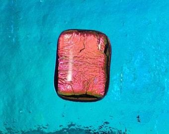 MURANO DICHROIC  glass - 104 COE - Pink dichroic - Fused glass jewelry supplies - fusing supplies - Dichroic jewelry