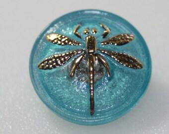 Czech Dragonfly Button, Small, 18mm