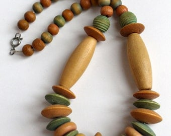 Multicolor Wooden Necklace