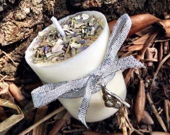 SAGE Votive Candle. Smudging Candle, Cleansing Candle, Banishing Candle, Spell Candle, Magick Candle, Samhain Candle, Clearing Ritual Candle
