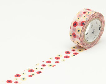 Washi tape with flower motiff | Masking tape, Japanesse celo, adhesive tape, packaging material, for gift and wrapping