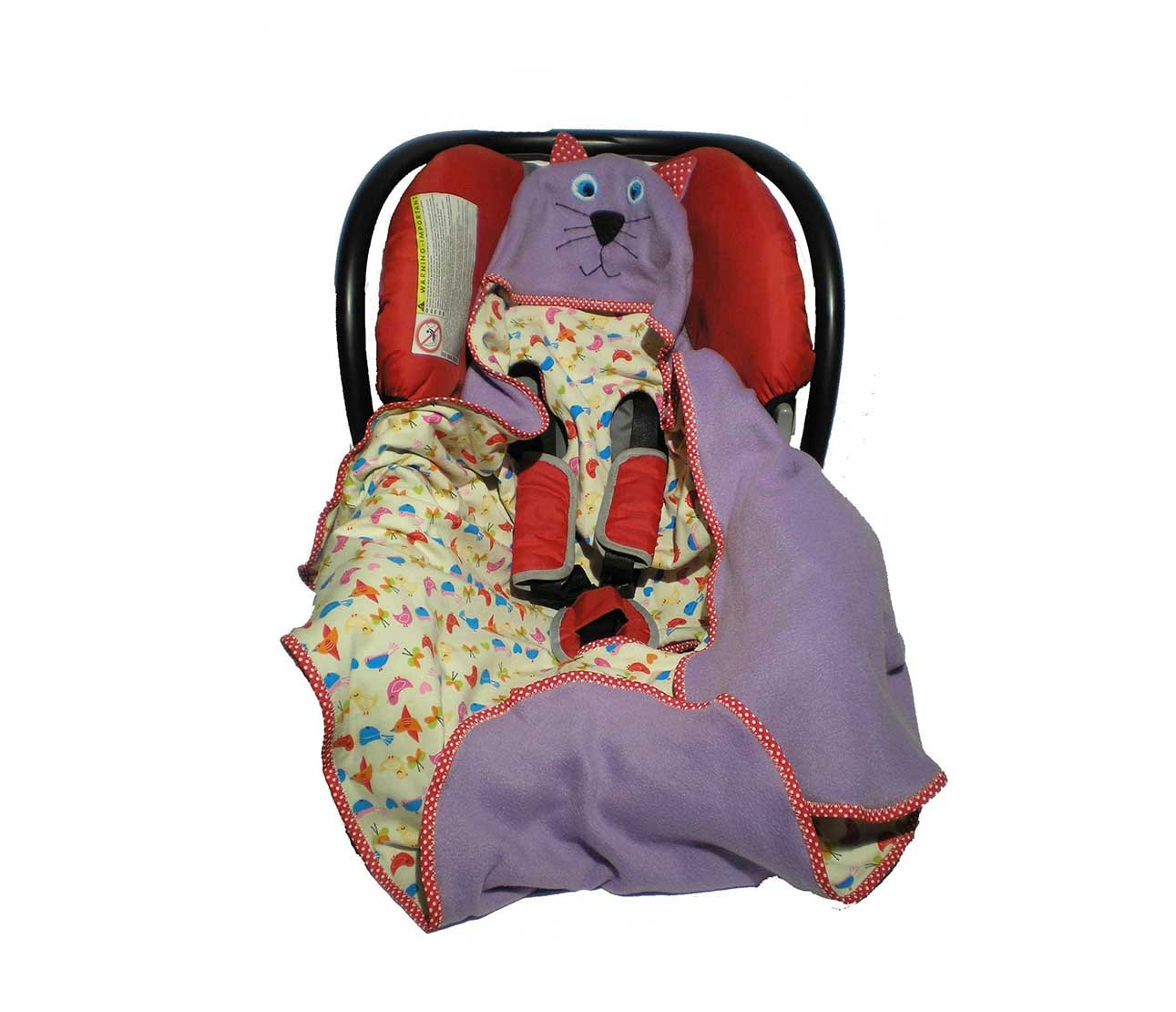 Hooded Car Seat Wrap Fleece And Jersey Car Seat Blanket