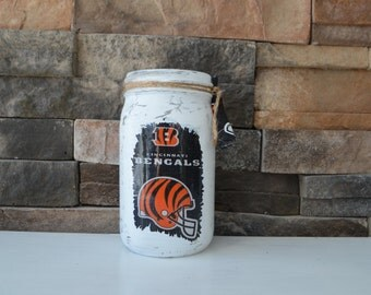 Bengals Decorative Mason Jar