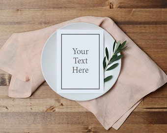 Styled Stock Photography | Styled Tabletop | Menu Stock Photography | Place Setting | Digital Image