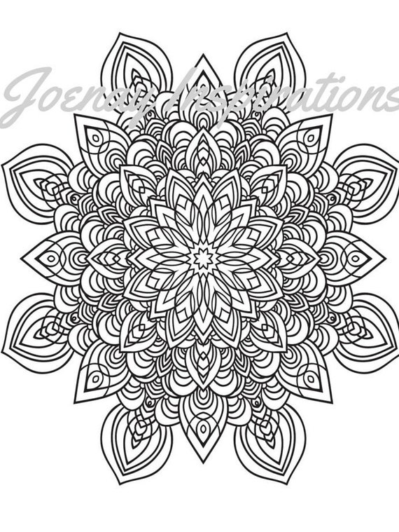 Adult Coloring Book, Printable Coloring Pages, Coloring Pages, Coloring Book for Adults, Instant Download Magnificent Mandalas 3 page 14