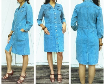 Vintage Denim Dress By Faded Glory