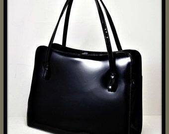 Vintage Patent Leather Handbag, Vintage Patent Leather Purse,Vintage Patent Leather Pocketbook,Vintage Theodor Handbag,Vintage Theodor Purse