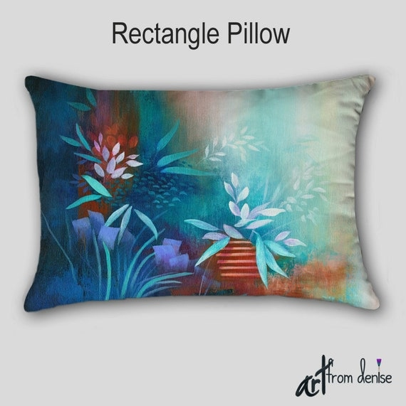 Turquoise Throw Pillows Covers : Turquoise lumbar pillow Decorative Cover Case Throw Teal
