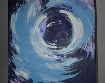 "Abstract canvas ""Vorticity"""