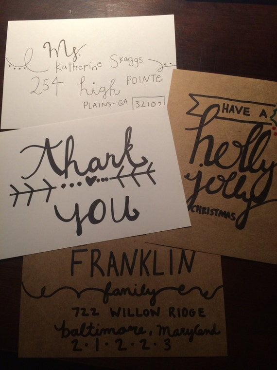 Hand Lettering cards