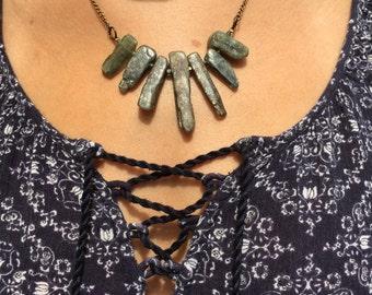 Peridot Radial Statement Necklace - Free Shipping