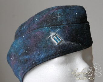 Handpainted Dr.Who inspired shuttle (side-cap) with Galaxy pattern (right)