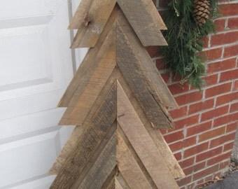 Reclaimed barn wood Christmas tree
