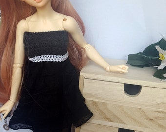 BJD MSD, Minifee or Unoa simple black dress with belt, 1/4 slim