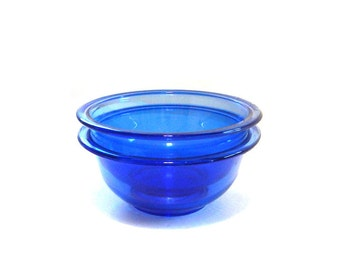 Pair of Blue Pyrex Mixing Bowls