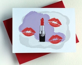Lipstick Kiss Card