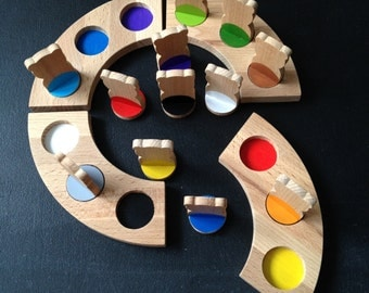 Wooden baby game SORTER / Kid game / Sorter game / Smart game / Baby gift