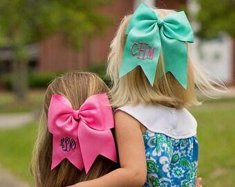 Monogrammed Bow, Monogrammed Hair Bow, Monogrammed Cheer Bow,  School Spirit Bow,  Monogrammed Hair Accessories