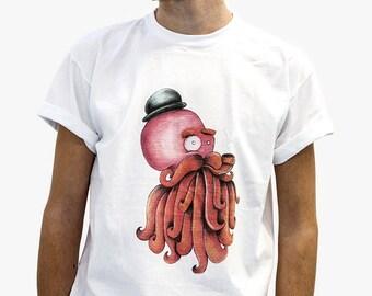 Sir Octopus 100% cotton t-shirt
