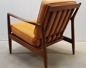 Folke Ohlsson for DUX Walnut Lounge Chair: Danish Modern, Mid Century Modern, 1960s