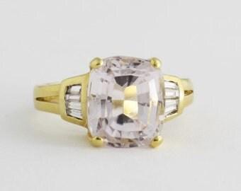 Pink Morganite Ring in 18k Gold, Diamond Morganite Ring, Gemstone Jewelry, Engagement Ring