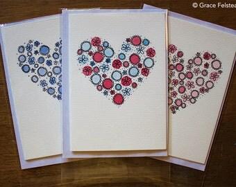 Heart Greeting Card- Handmade by Grace