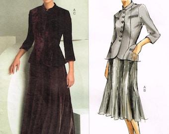 Vogue 2871 - Donna Karen - Vogue American Designer - Jacket, skirt - Size 6, 8, 10 - Uncut