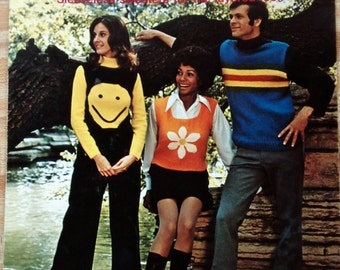 Pop Tops Funky Sweater Vests 1960s/70s Leisure Arts