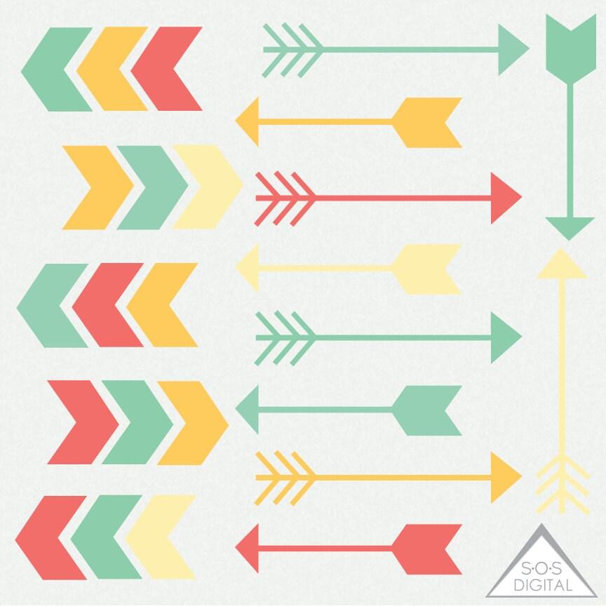 Digital Arrow Clipart Yellow Clipart Arrows Cute Green