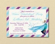Frozen Invitation, Frozen Invite, Elsa Birthday Party, Elsa Birthday Party, Frozen Movie Party, Digital Invitation, Printable Invitation