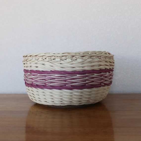 Basket Weaving Dyed Reed : Handwoven rustic natural and hand dyed wicker reed