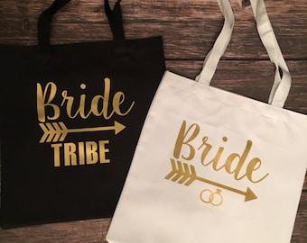 Bride / Bride Tribe Tote Bags  - Bridesmaid / Bachelorette