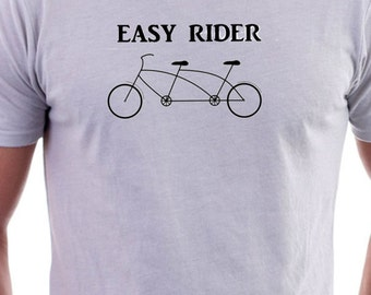 T-shirt with Tandem Bike easy rider Logo