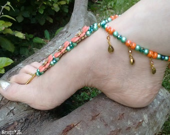 Barefoot Sandals, Foot Jewellery, Beaded Barefoot, Beach Sandals, Wedding Barefoot, Barefoot Wedding, Beach Foot Jewelry, Barefoot Jewelry