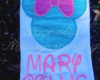 Applique Disney Minnie Mouse boutique shirt