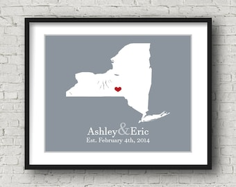 New York Wedding Gift for Groom Wedding Present Personalized Anniversary Present Personalized Birthday Present Personalized Engagement Gift
