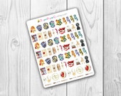 TINY Harry Potter Objects Stickers, Kawaii, Cute Stickers, Planner Stickers, Pretty,  Erin Condren, ECLP, House Sigil, Hed
