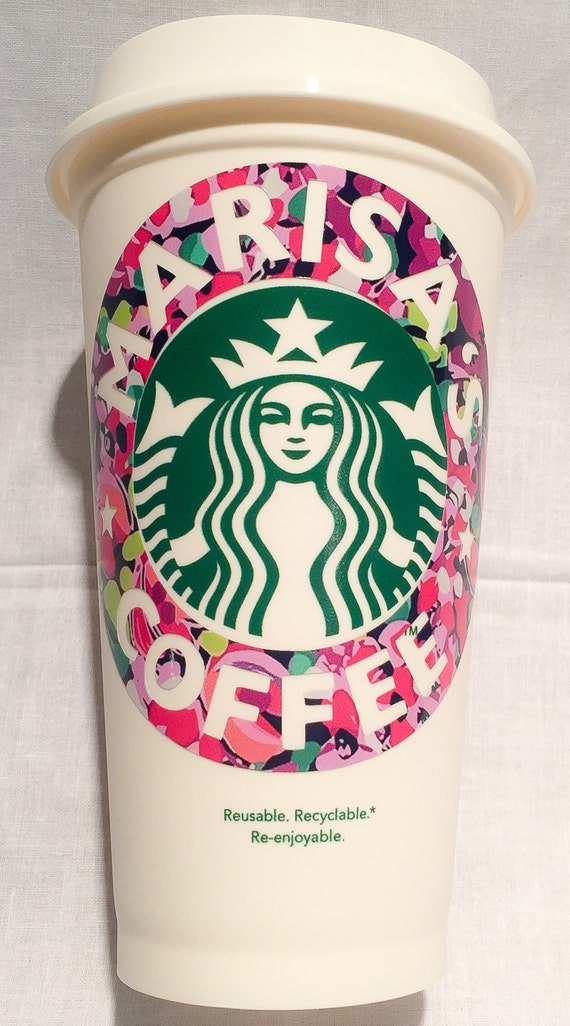 lilly pulitzer starbucks reusable cup lilly by