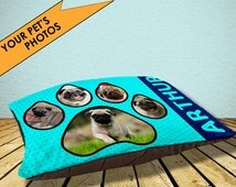 Photo pet bed, choose your own colour, your photos, unique, cat bed, dog bed, personalised pet bed, large dog bed, small dog bed, any colour