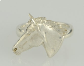 Ring • horse head • 3D • sterling silver