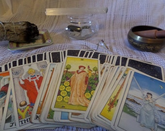 Only- Private 10 card Waite Tarot Card Reading- No follow ups