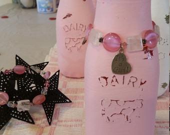 Baby shower Distressed Milk Bottles