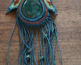 Necklace ethnic chrysocolla