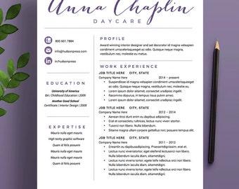 purple resume etsy