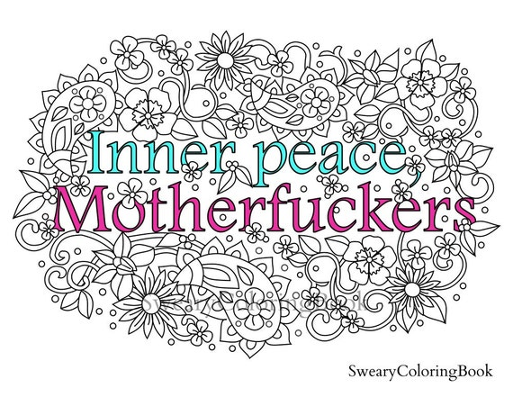 Swear Word Coloring Book Ca Inner Peace Mother Ers Words By Swearycoloringbook