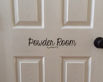 POWDER ROOM DECAL