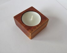 Wooden Candle Holder, Tea Light, Wooden Candleholder, Rustic Candle Holder, Tea Light Holder, Cottage Candleholder,  Bathroom Candle