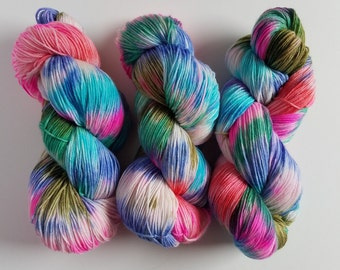 SKI TRIP- Hand Dyed Superwash Sock Yarn- Hand Dyed Superwash Merino Nylon- 462 yards