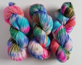 SKI TRIP- Hand Dyed Superwash Sock Yarn- Hand Dyed Superwash Merino Nylon- 462 yards