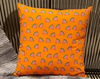 watermelon cushion cover 45x45cm *cover only pad not included* watermelon print, watermelon pillow, fruit pillow, fruit cushion.